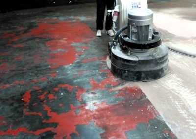 Eliminación de pintura epoxi